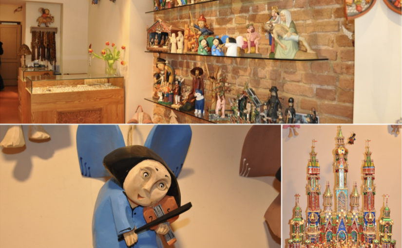 Drewniane ręcznie robione anioły i szopki bożonarodzeniowe idealne na upominek